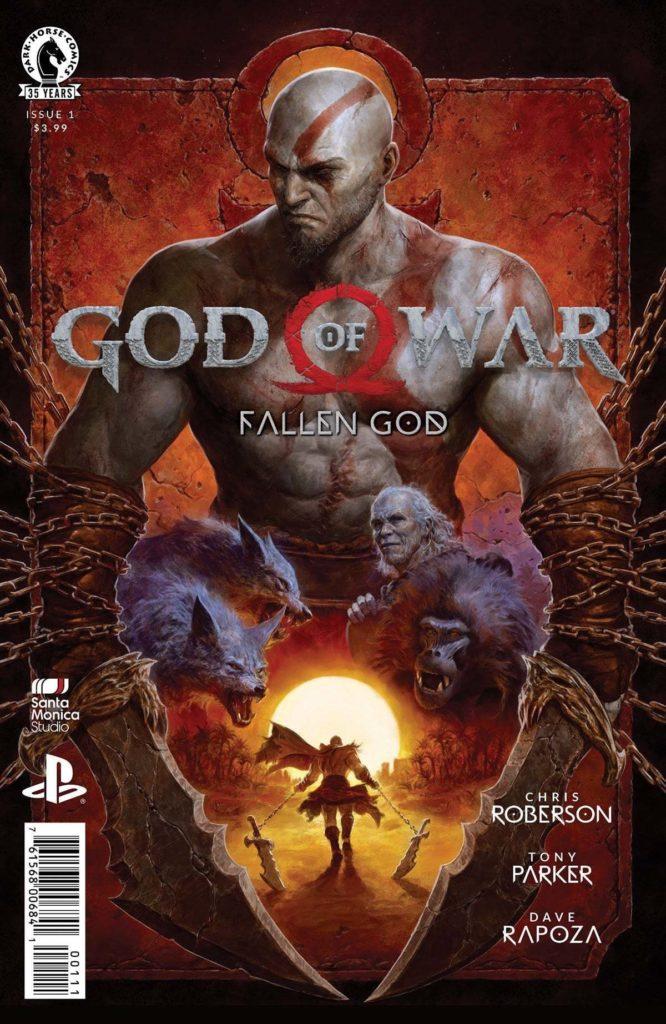 Комикс God of War: Fallen God (обложки и первые страницы)