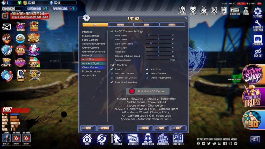 League of Maidens раздел Motion 3D