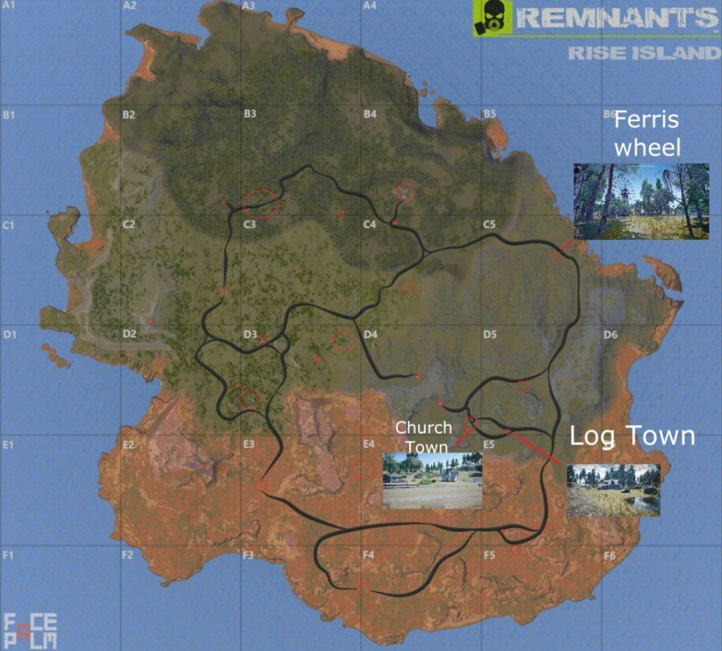 Remnants - Карта острова Rise