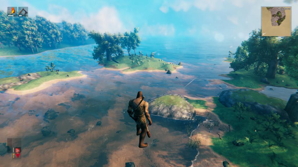 Зерно мира Valheim с небольшим островом и боссами рядом