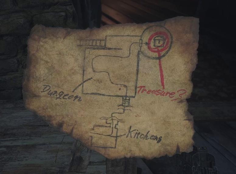 Карта сокровищ в замке Димитреску - Resident Evil 8
