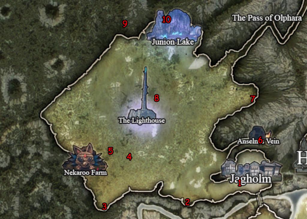 Карта главы 2 с кристальными цветками