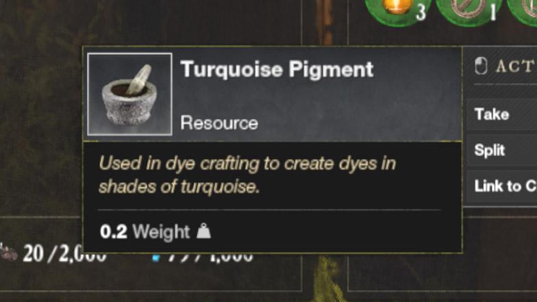 Как получить Turquoise Pigment в New World