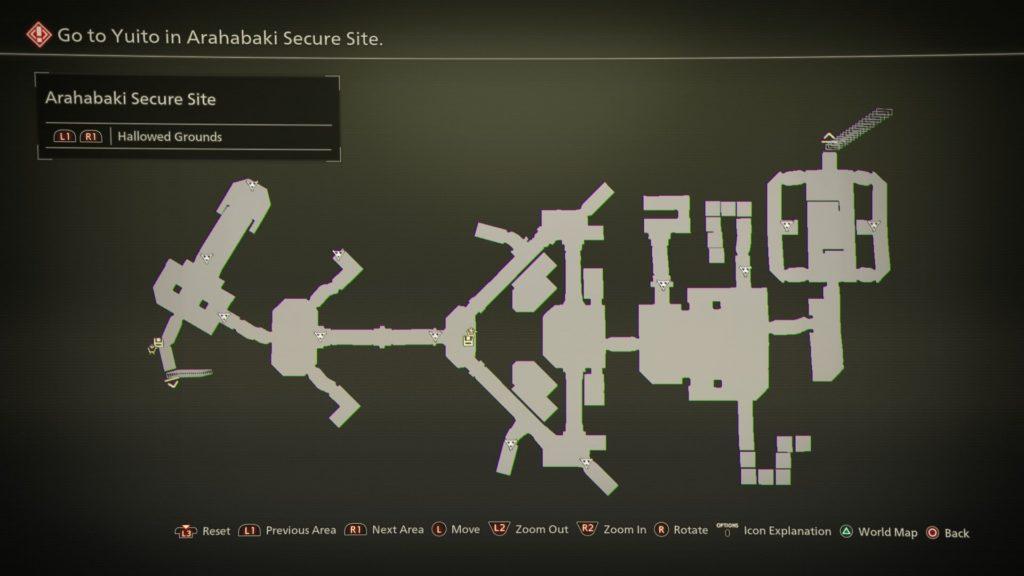 Scarlet Nexus - Бункер Арахабаки - Карта Священные земли