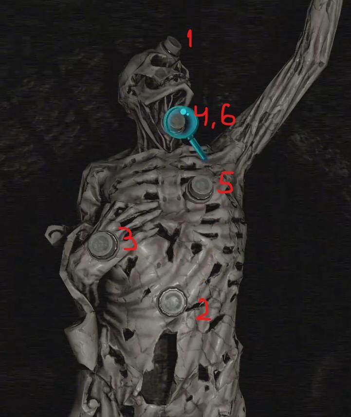 Головоломка Tormented Souls - Скелет (Skeleton Puzzle)