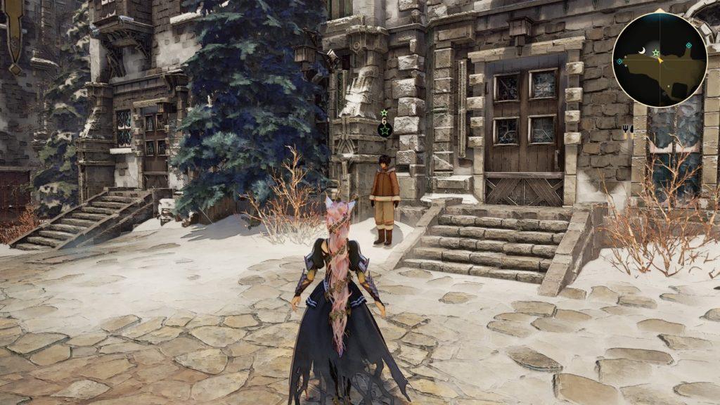 Квест Исследование показывает локация Улица площади с фонтаном в Tales of Arise человек